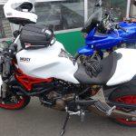 Ducati 821 Blanche à Rosy