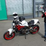 Rosy en Ducati 821