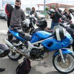 Romain et Mélodie en Suzuki SVS 650