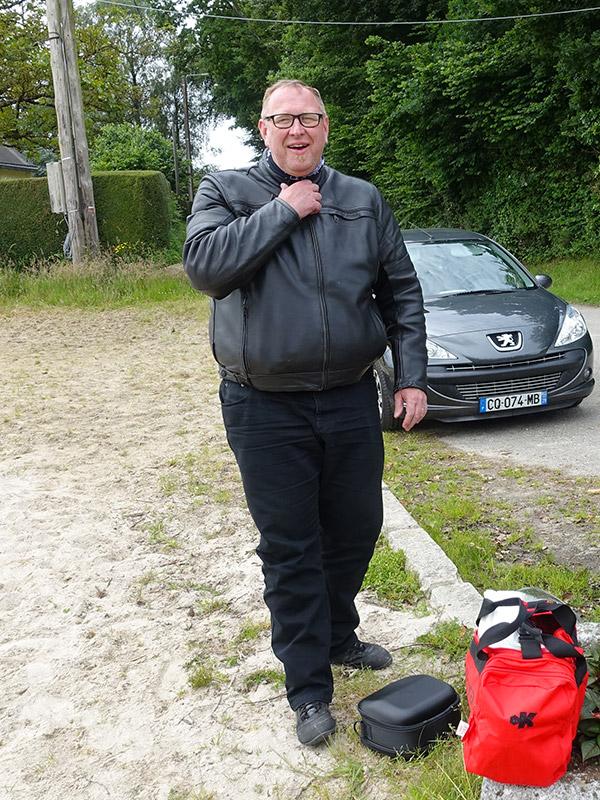 Arnaud, motard Rennais en BMW