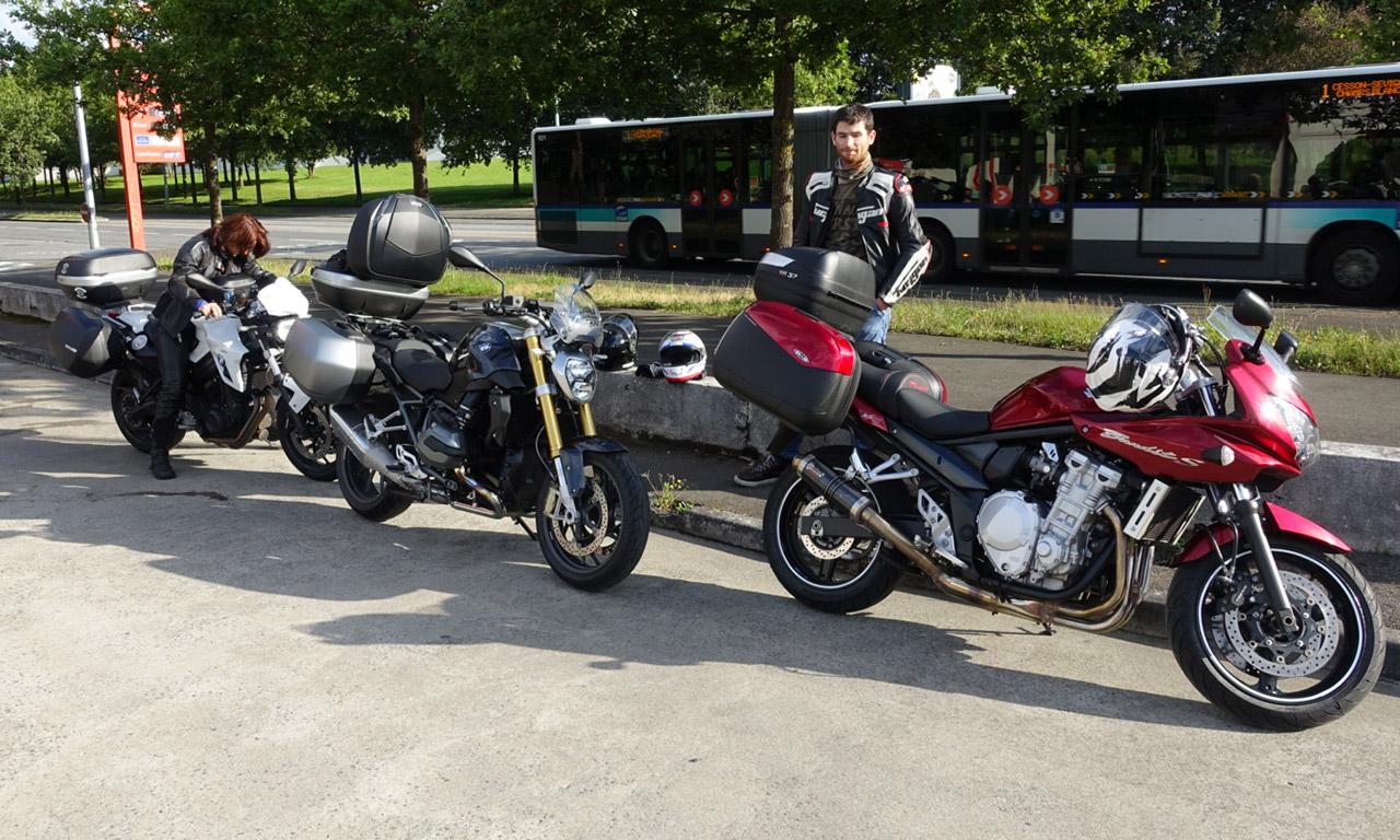 les motards Rennais vers le Massif Central