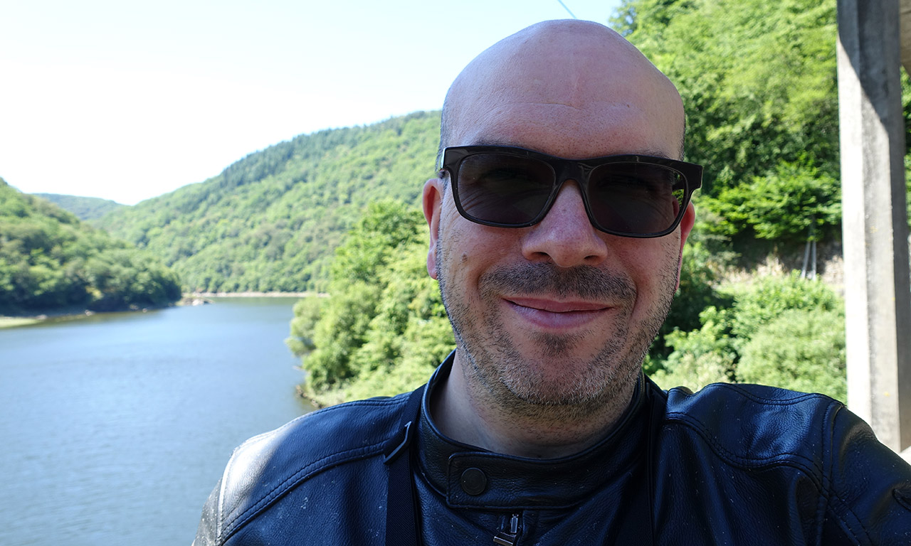 David Jazt le long de la Dordogne