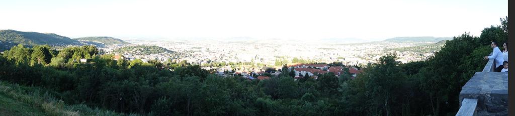vue panoramique sur Clermont-Ferrand
