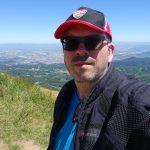 David Jazt avec sa casquette au Puy de Dôme, juillet 2016
