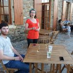 dîner en terrasse au Relais de Sarlande