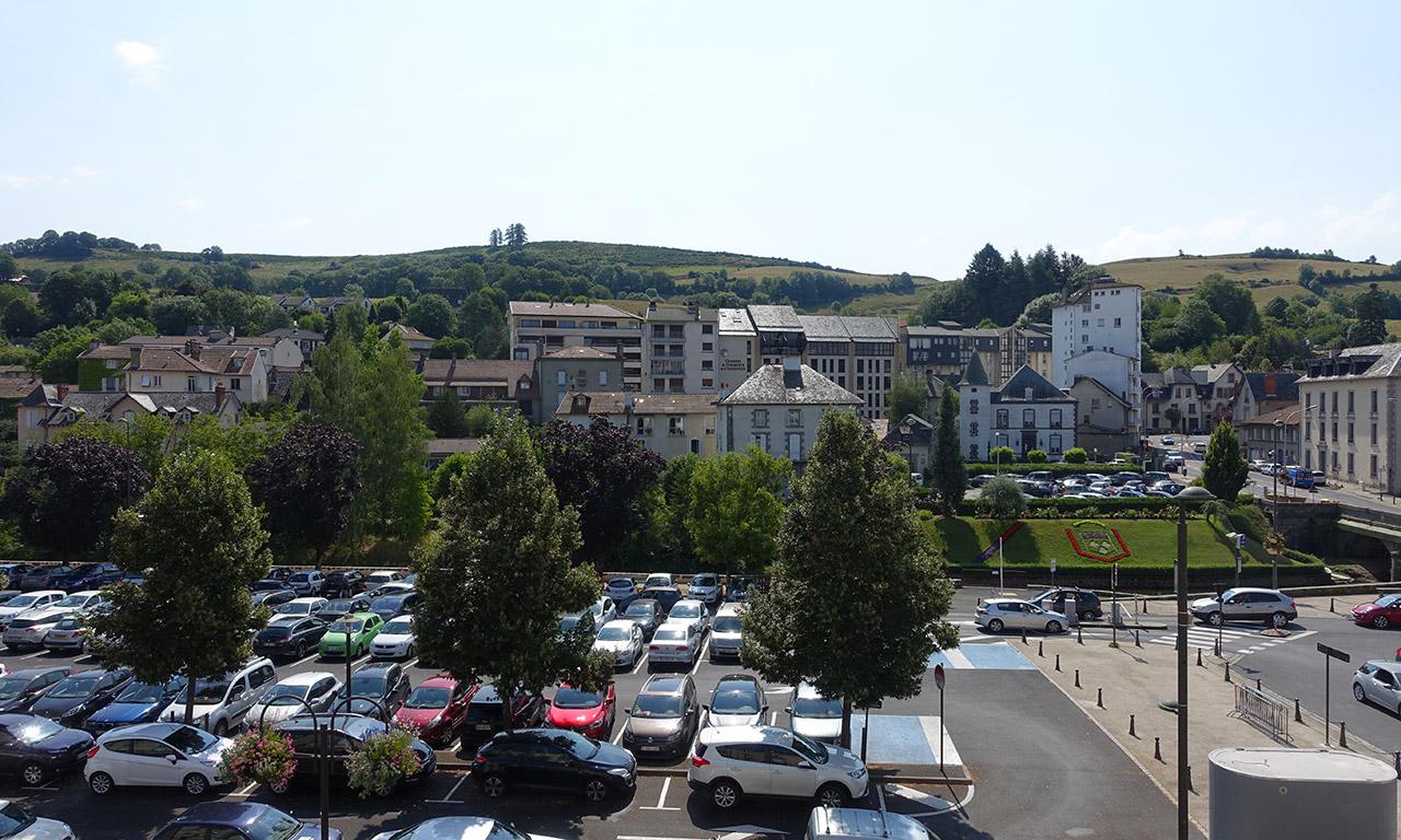 Vue depuis la chambre David Jazt à l'hôtel Saint Pierre d'Aurillac