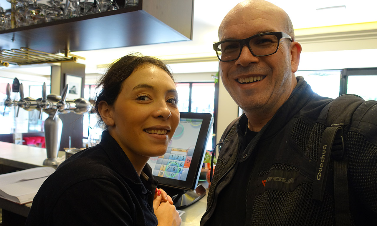 Rachel du Bistrot d'Aurillac avec David Jazt