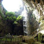 vue en sortant de la grotte