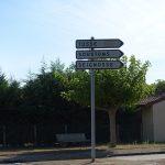 panneau de direction vers Soustons