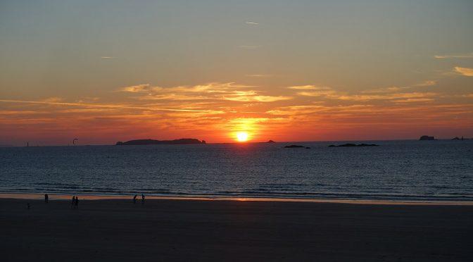 couché de soleil à Saint-Malo (plage de Rothéneuf)