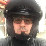 David Jazt équipé du casque moto Neotec de chez Shoei