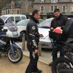 départ de la Gacilly vers Rennes à moto