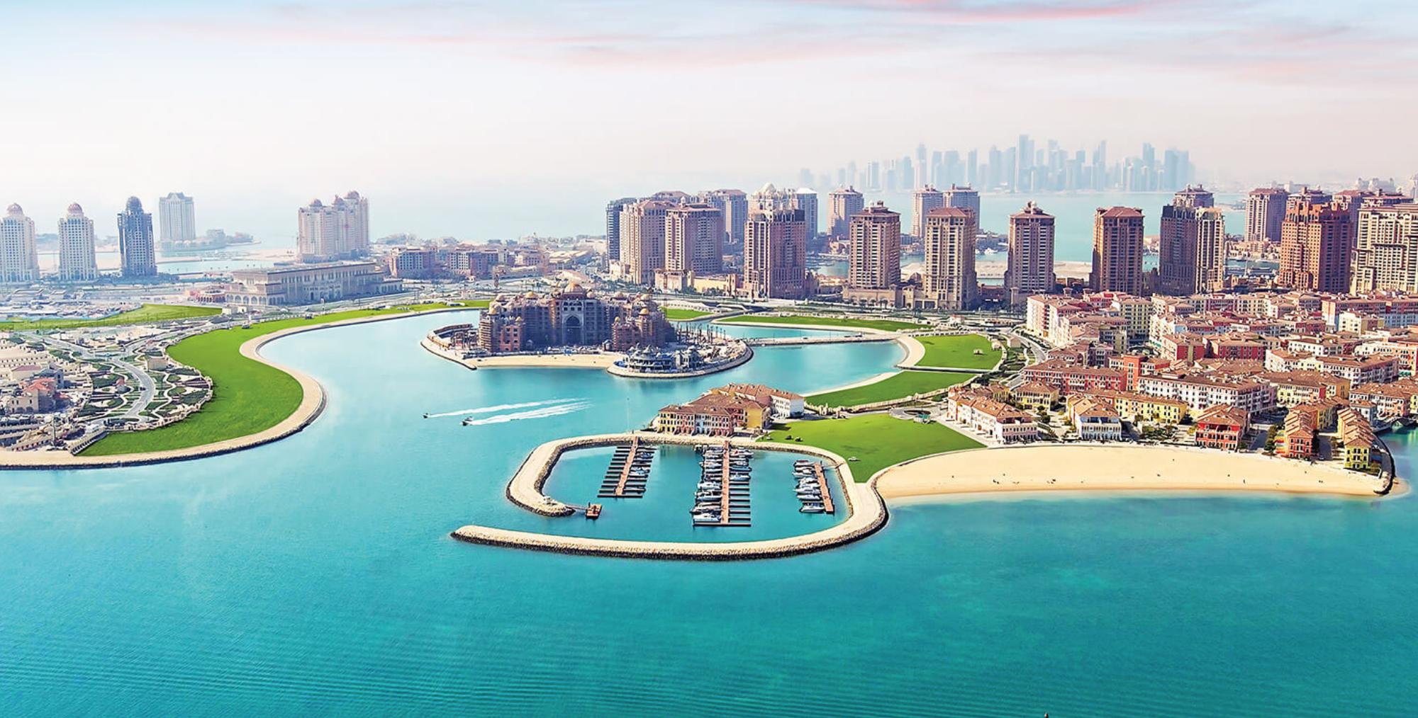 Ville de Doha capital du Qatar