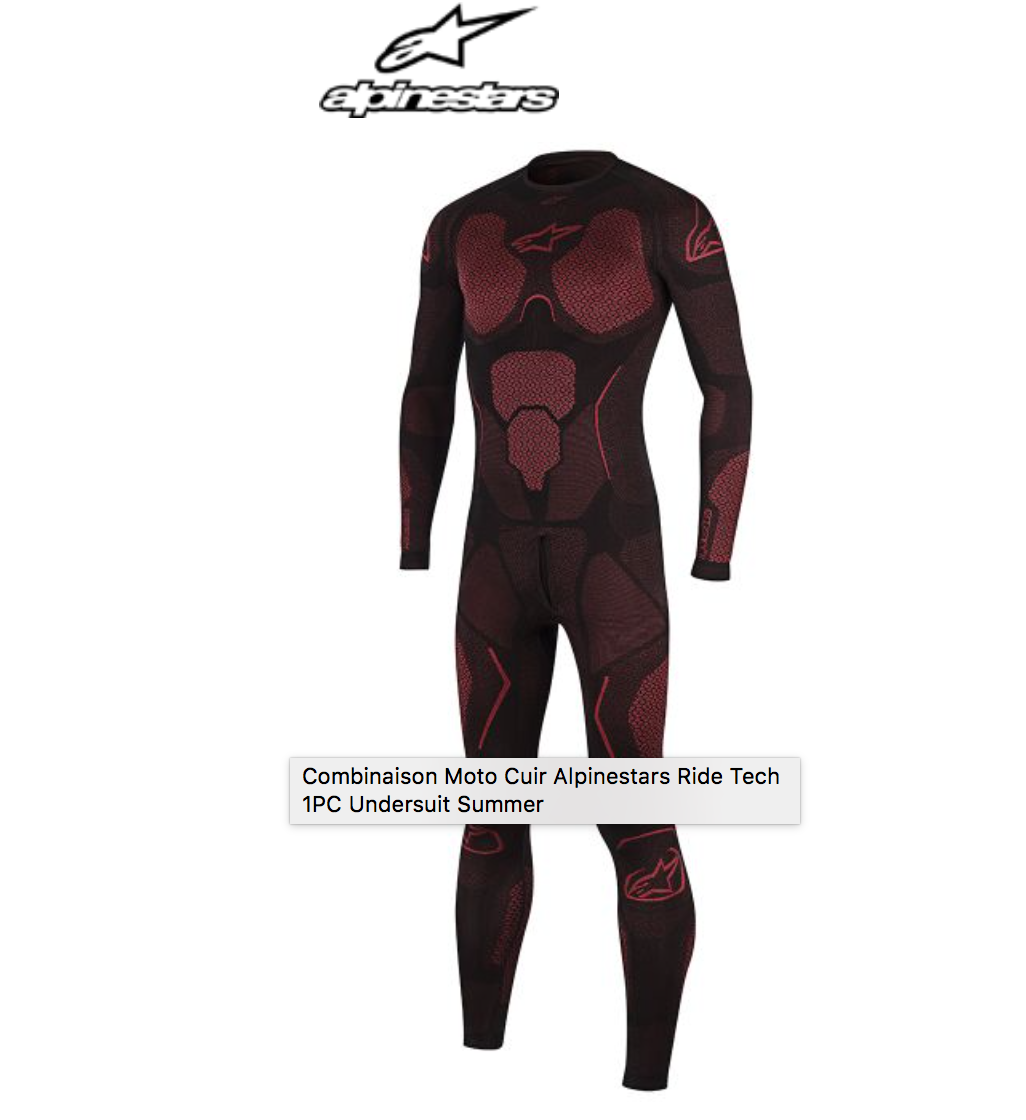 ALPINESTARS RIDE TECH 1PC UNDERSUIT SUMMER