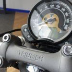 tableau de bord du Triumph Bobber