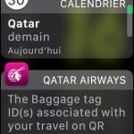 qatar airways sur l'apple watch