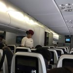 ambiance à bord de l'avion pour le Qatar