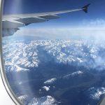 vue par le hublot depuis le Airbus A380