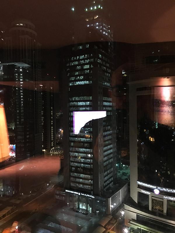 vue de la chambre au 20ème étage