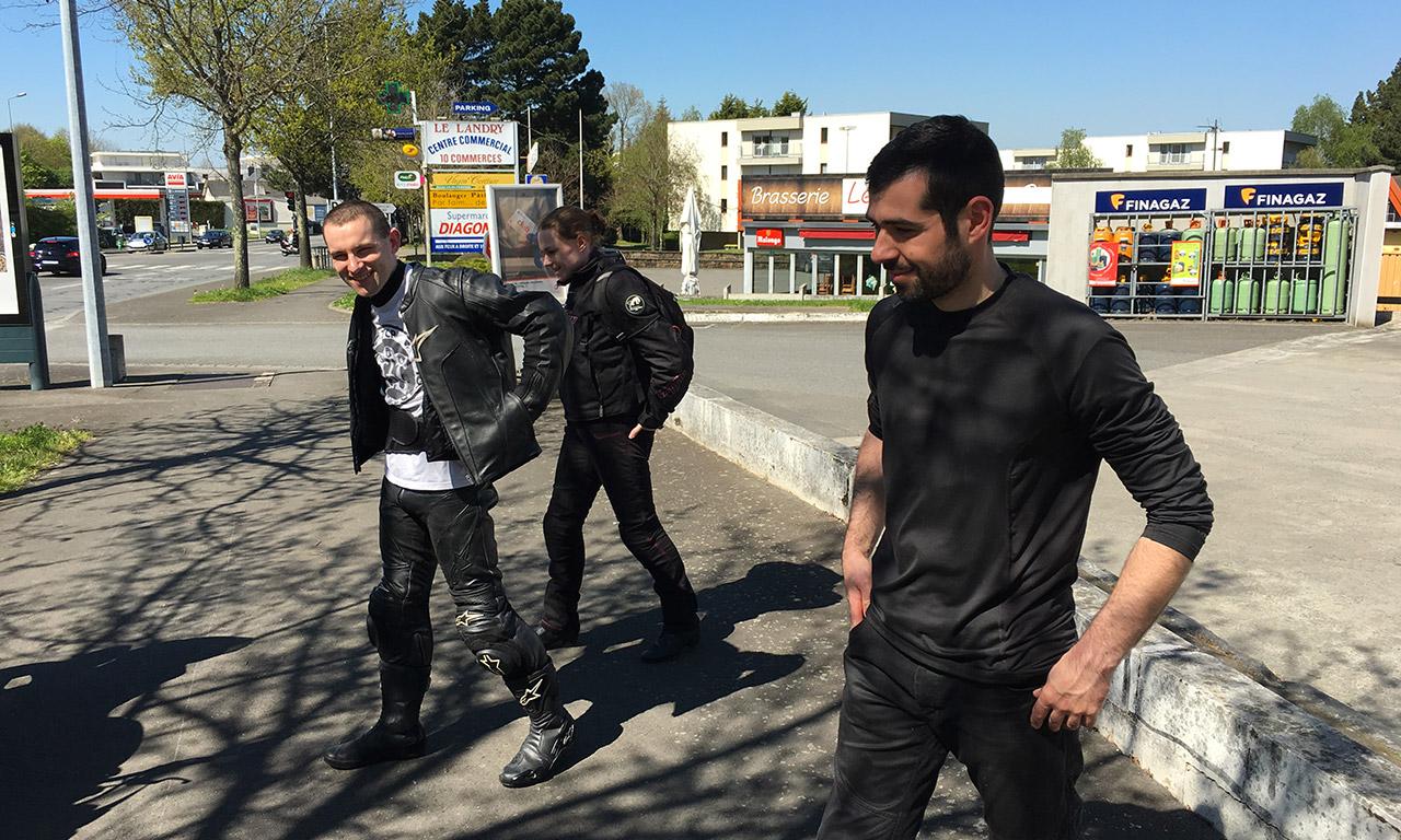 Alexandre, Amélie, Romain : les motards Rennais