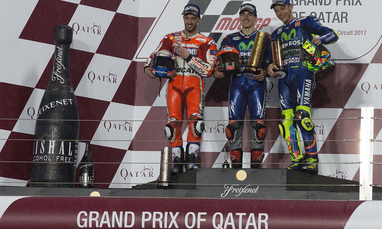 podium du motoGp du Qatar 2017