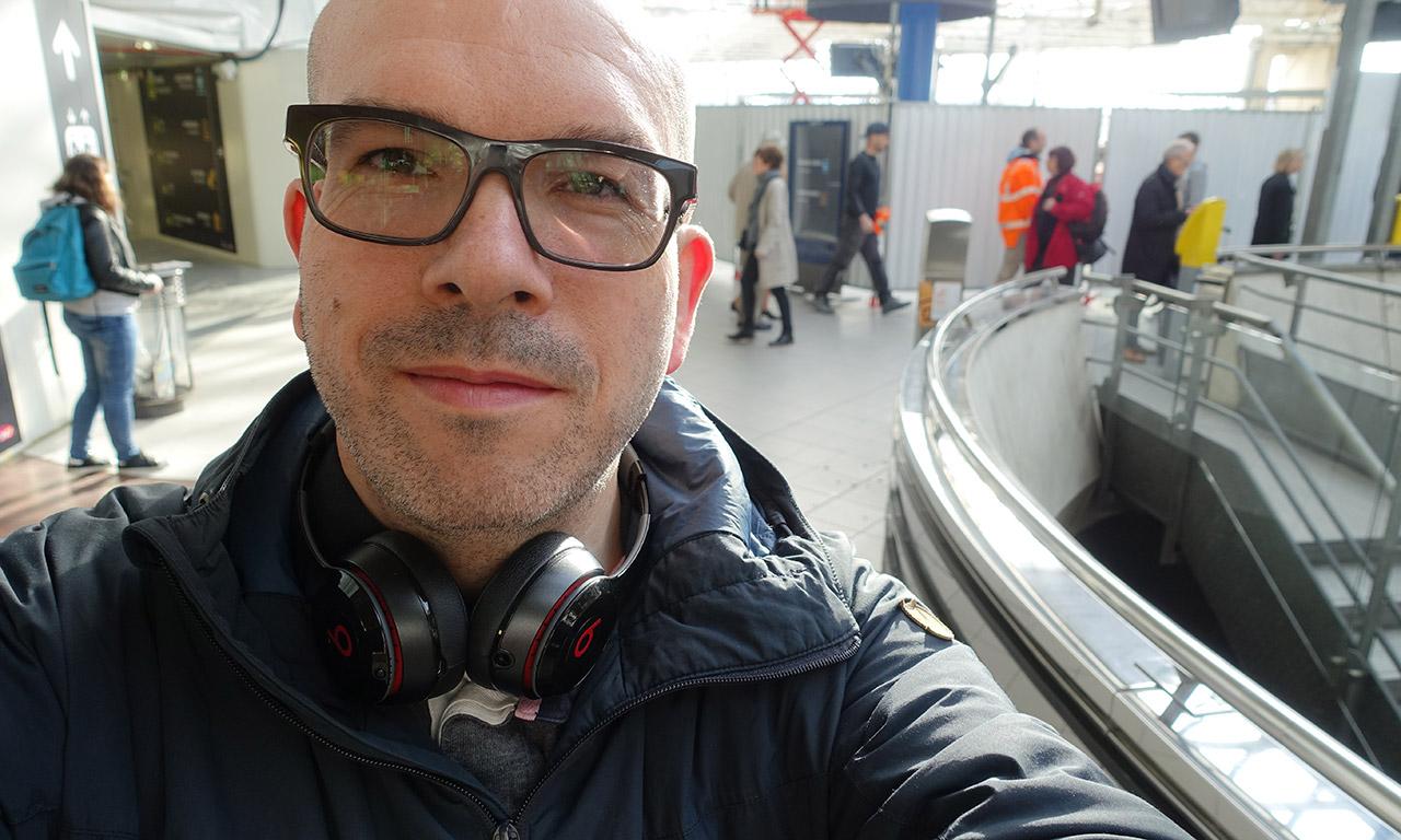 David Jazt à la gare de Rennes