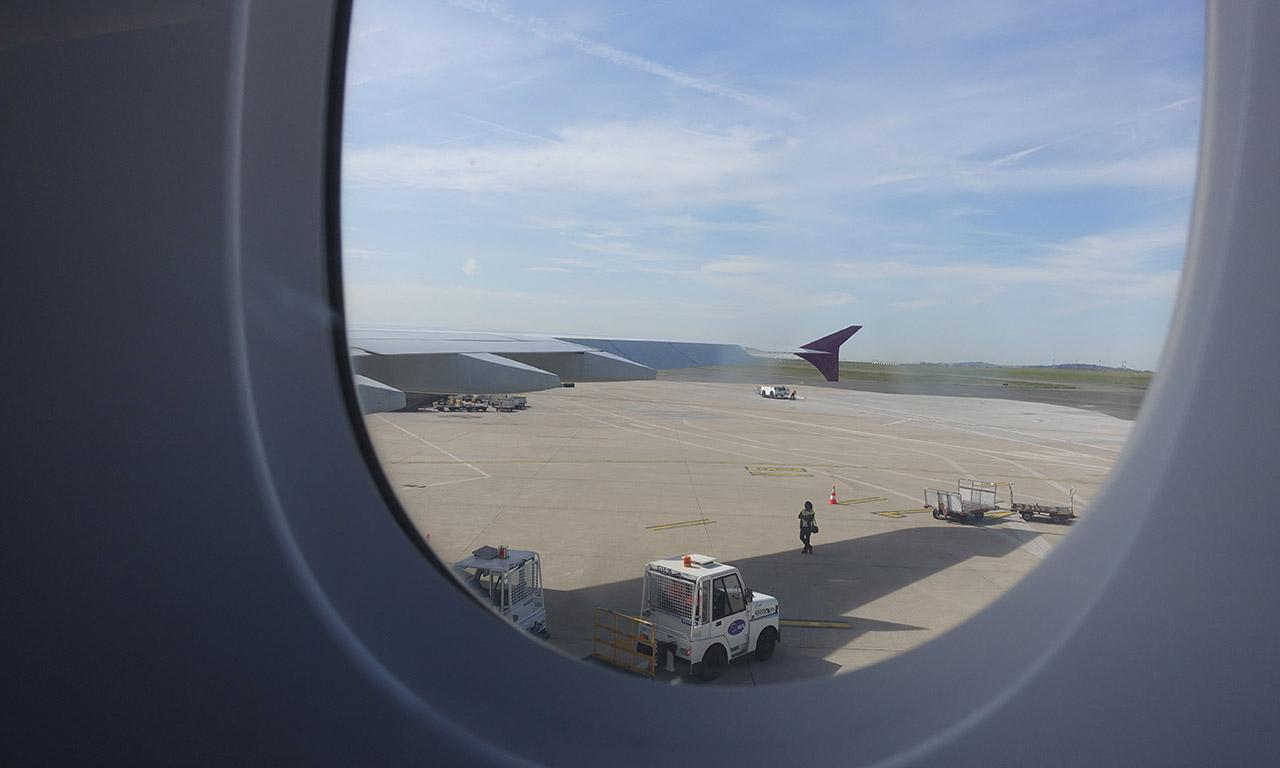 vol en avion : ciao Paris