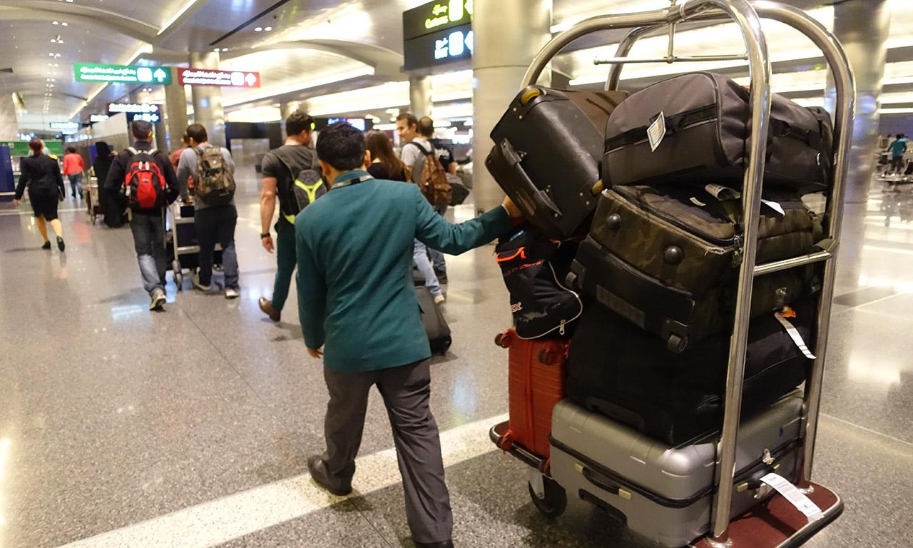 Michelin se charge de faire porter nos bagages durant tout le séjour