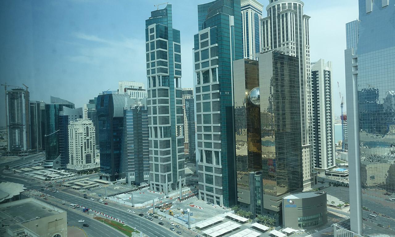 vue depuis le 20ème étage au Shangri-la Hotel Doha