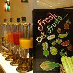 jus de fruit frais trop bons pour le petit déjeuner du Shangri-la Doha