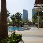 vue sur la piscine, 7eme étage du Shangri-La Doha