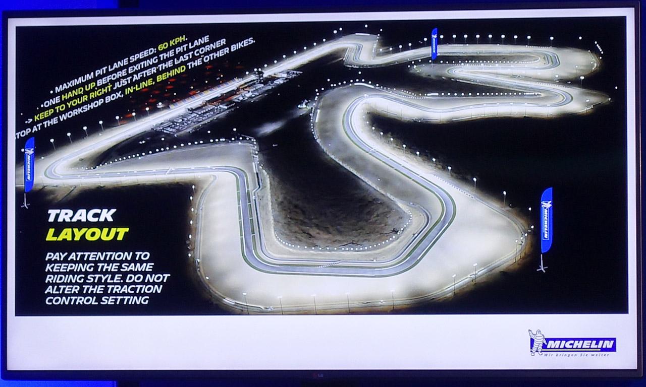 Circuit de Losail de nuit (Qatar - Doha)