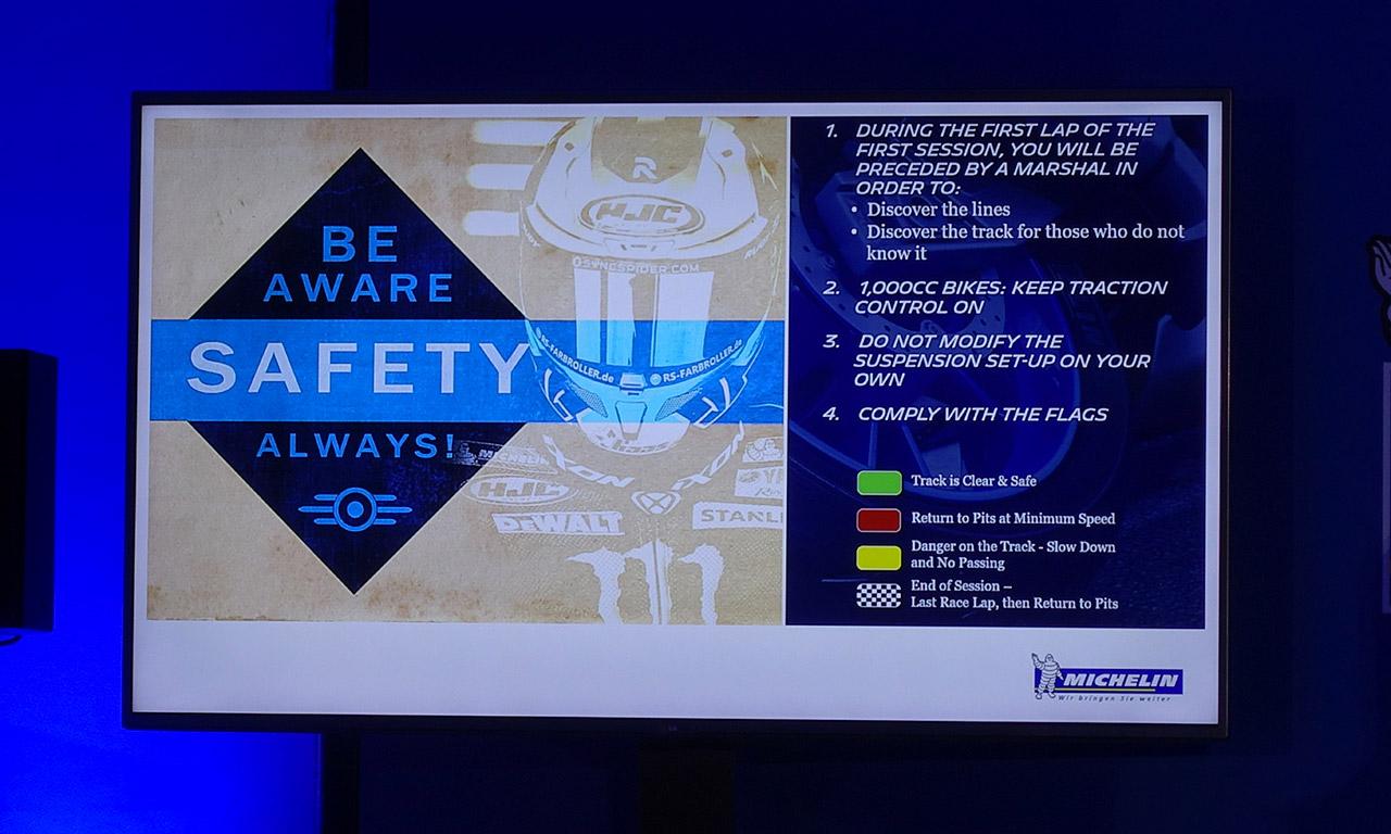 règles de sécurité sur le circuit de Losail (Qatar)