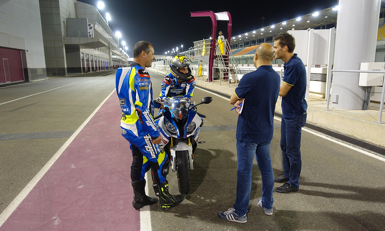 BMC Moto sur le circuit de Losail au Qatar