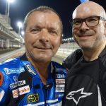 Alex VIEIRA (BMC moto) et David Jazt sur le Circuit de Losail (Qatar)