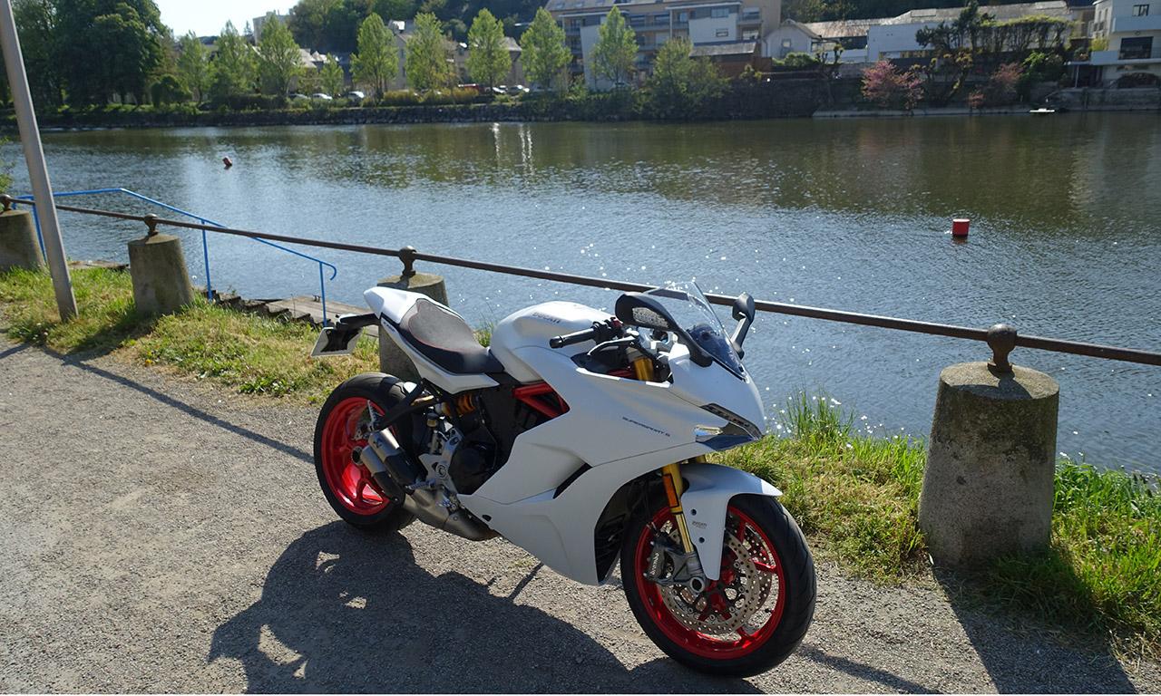 vue du dessus SuperSport Ducati