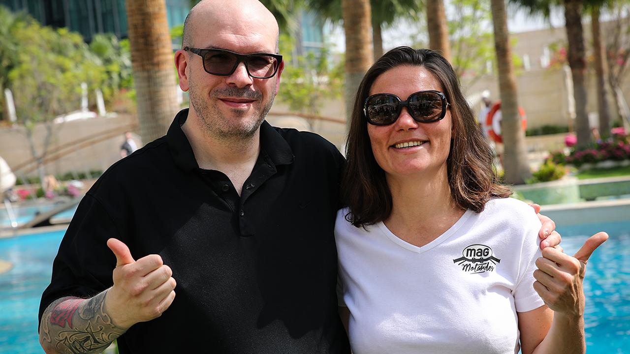 David Jazt & Lydia Truglio à Doha pour le Michelin Power RS
