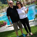 David Jazt et Lydia truglio beaumont (Mag Motardes) à Doha