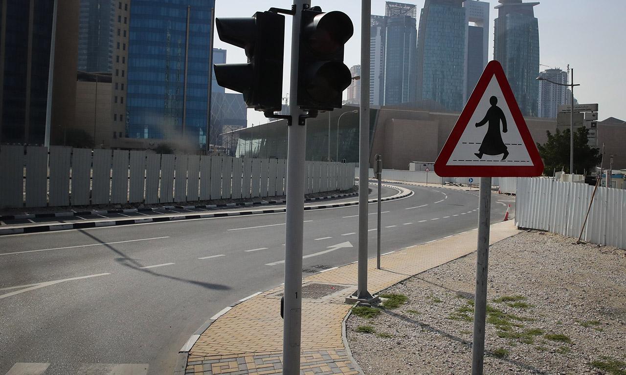 ambiance dans le centre ville de doha
