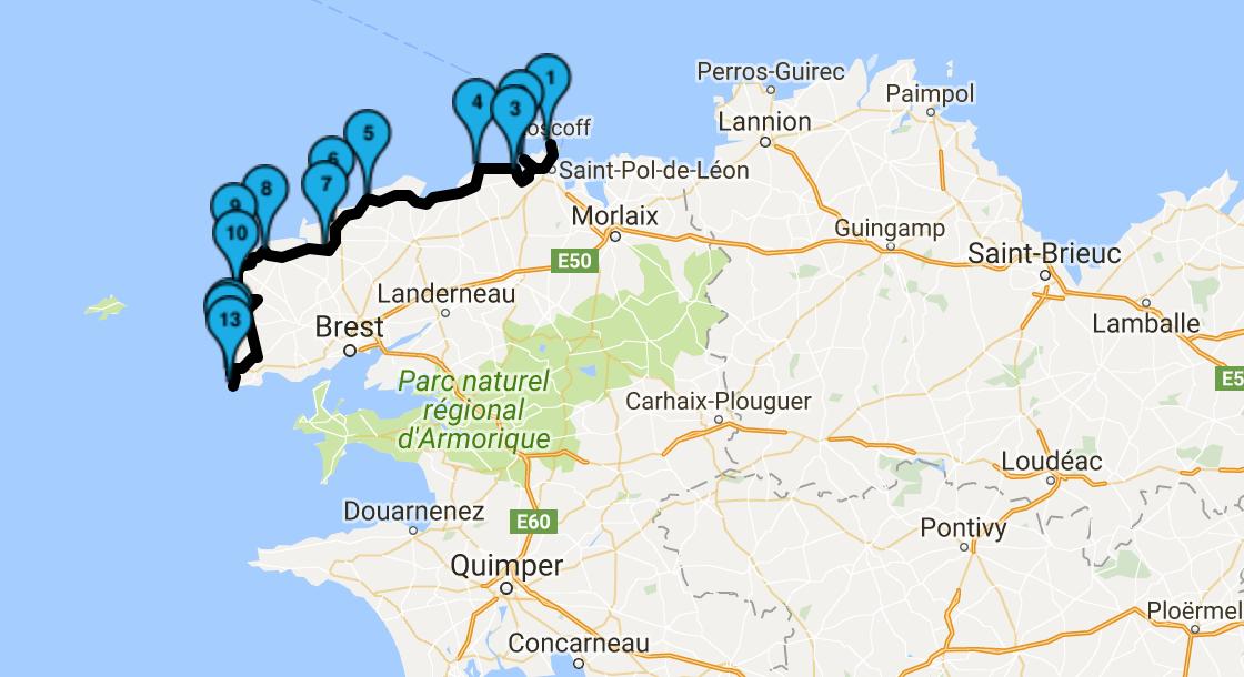 Roadbook Tour de Bretagne : jour 2