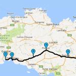 Roadbook jour 3 retour sur Rennes depuis Benodet