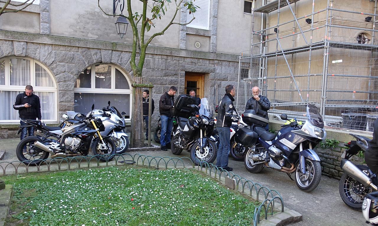 Motards Rennais dans Intra-Muros à Saint-Malo