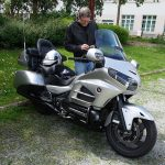 Laurent sur sa belle moto Goldwing Honda GL 1800