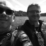 David Jazt et Laurent au Lac de Guerledan