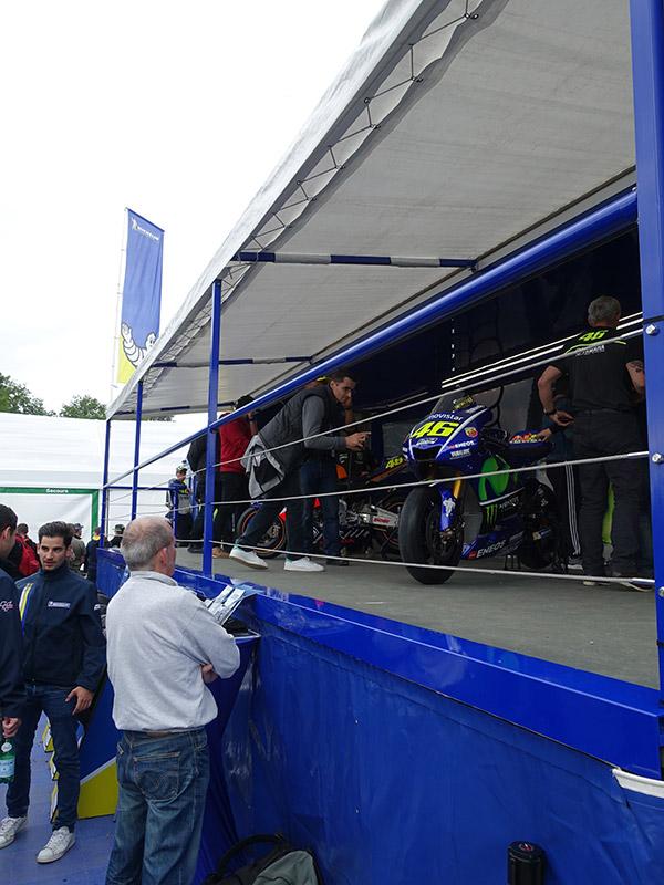 Stand Michelin au Moto GP Le Mans