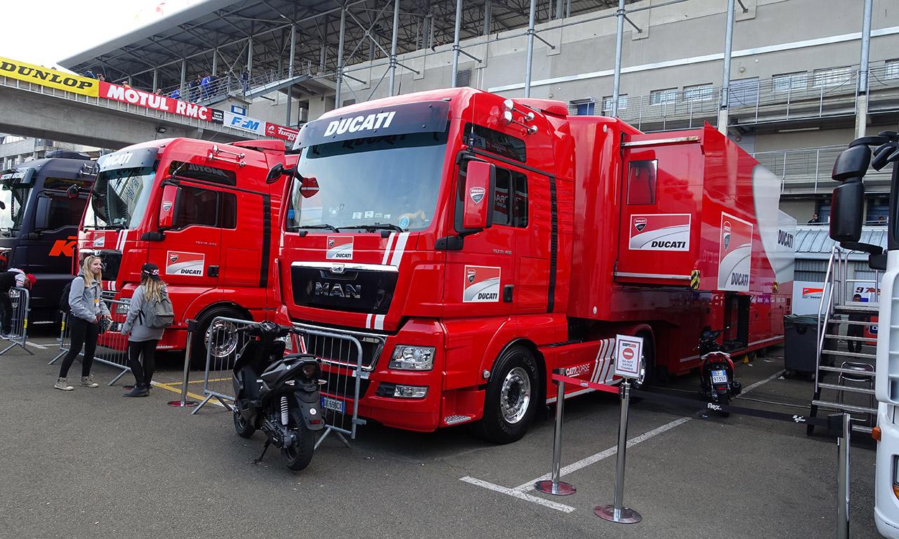 Equipe Ducati au MotoGP