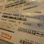 3 billets pour assister aux 3 jours Moto GP Le Mans