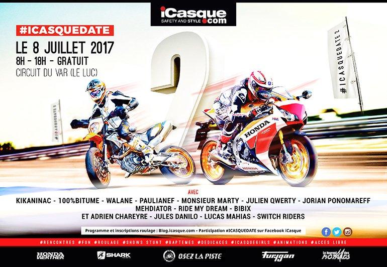 iCasque Date 2 : rdv sur circuit le 8 juillet 2017