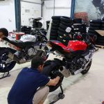 changement des pneus moto