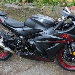 GSXR 1000 Noire et bordeaux